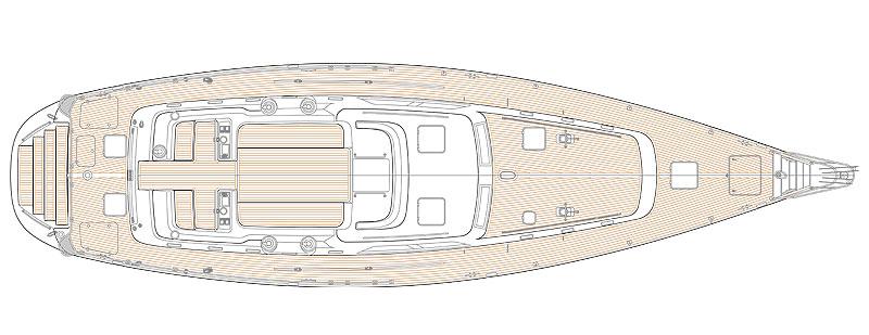 Hylas H70 Deck